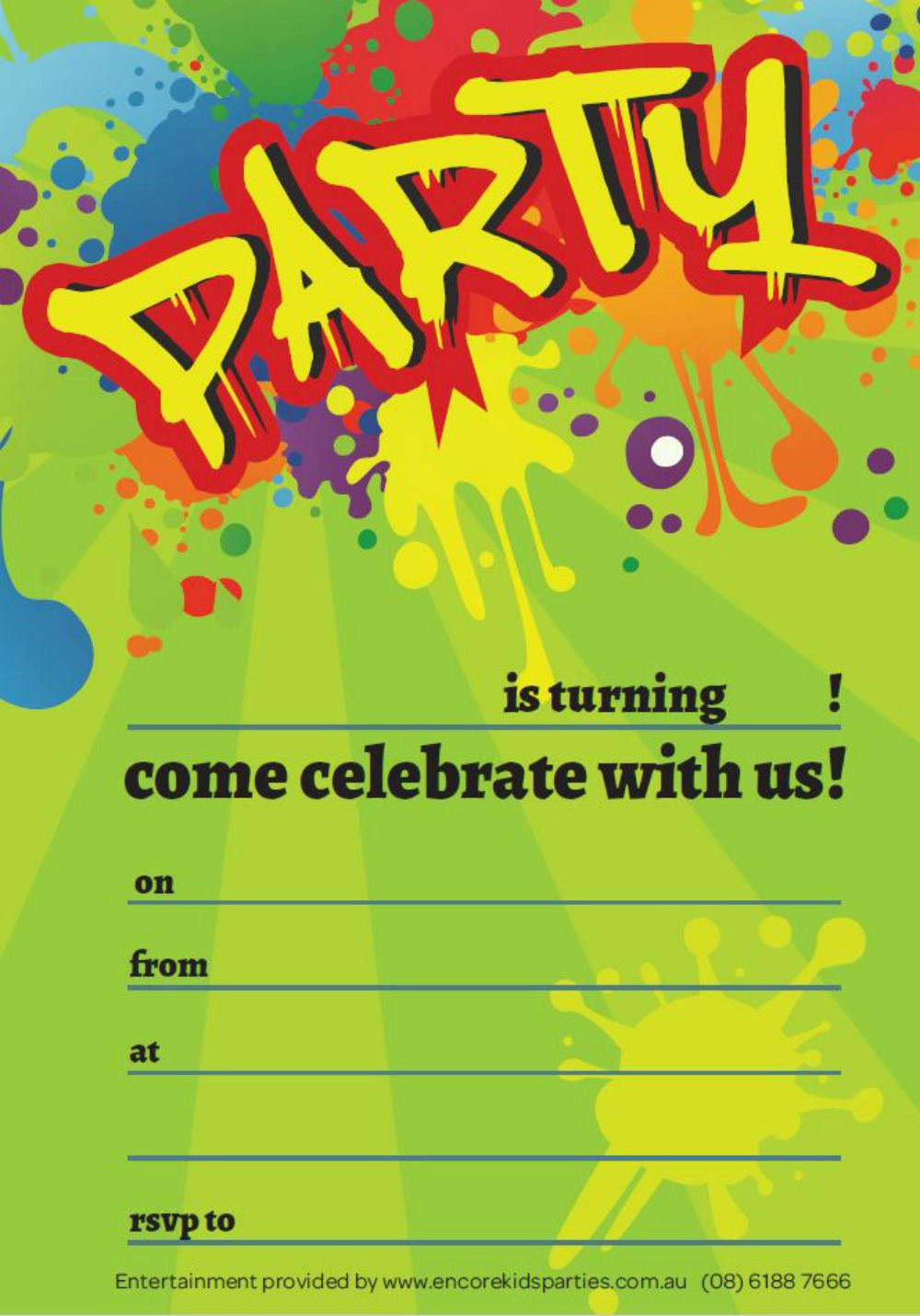 Party Invites Printables – Boy Party Invitations