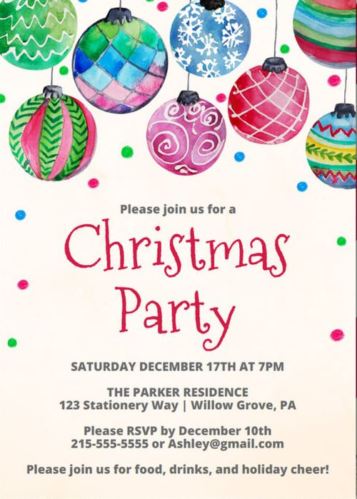 image for FREE Christmas Party Invitation