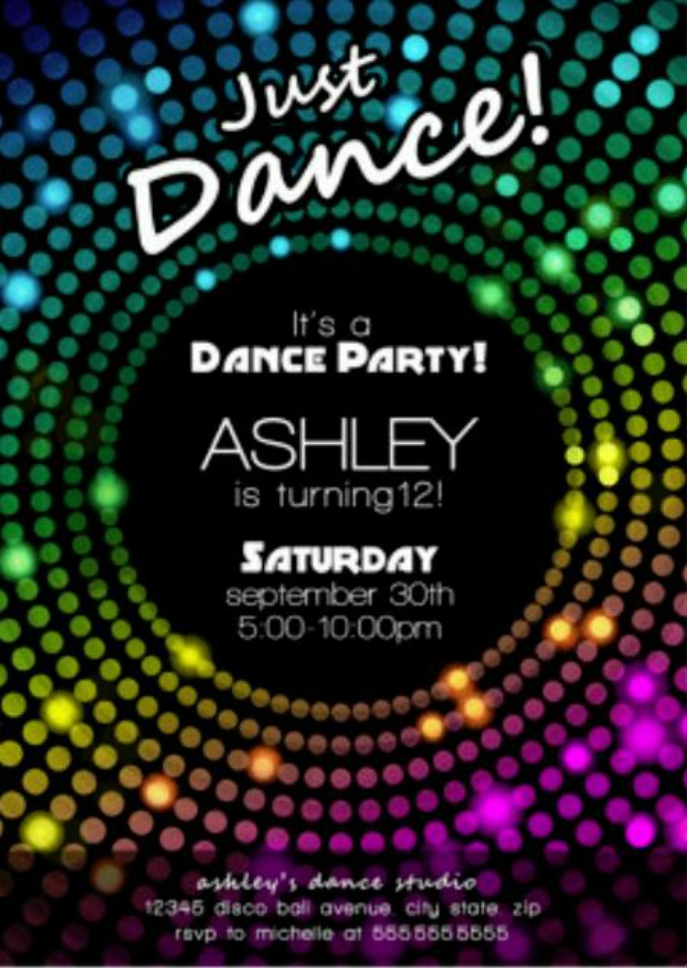 Free Disco Party Invitation Encore Kids Parties