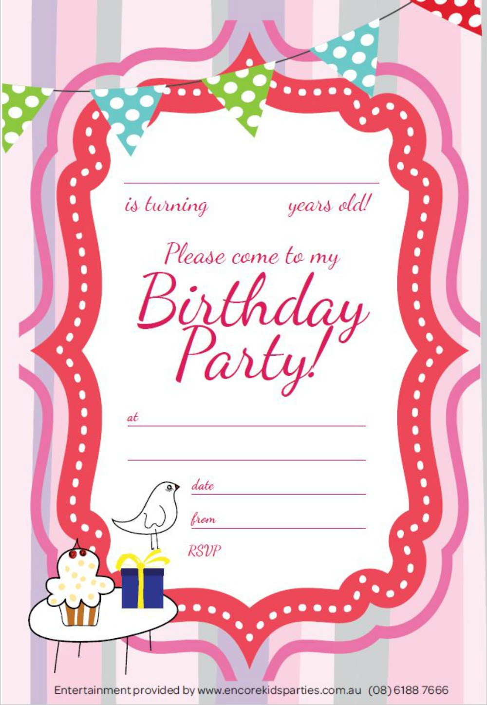 free girl party invitations