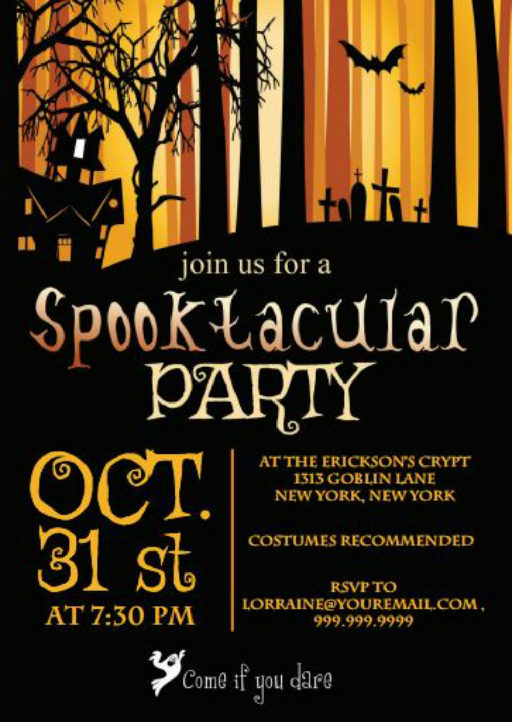 image for FREE Halloween Party Invitation