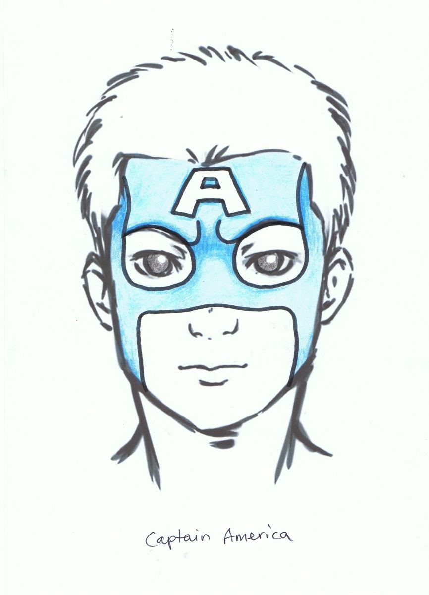 superhero face painting designs encore kids parties - Painting Sketches For Kids