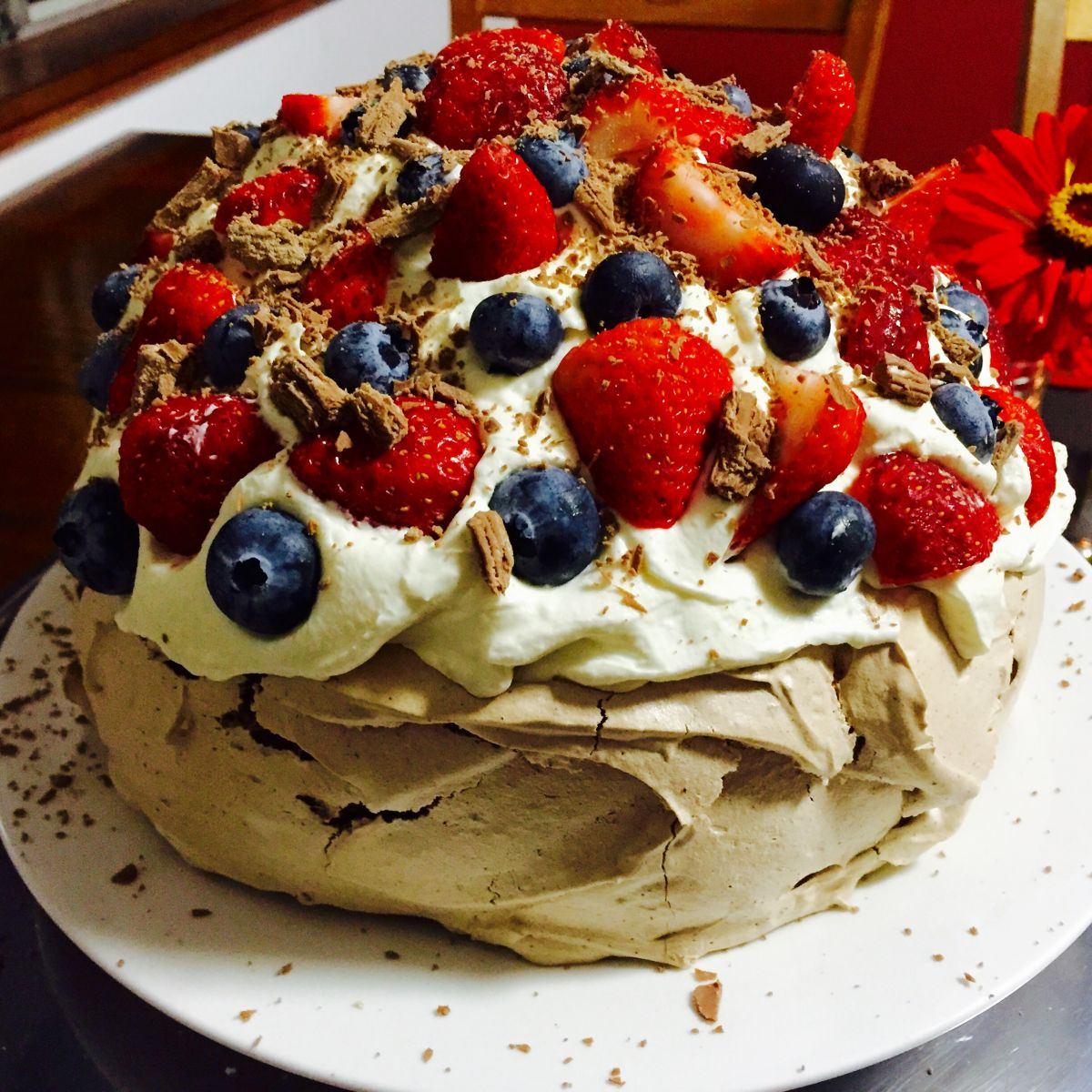 pavlova recipe, chocolate pavlova recipe