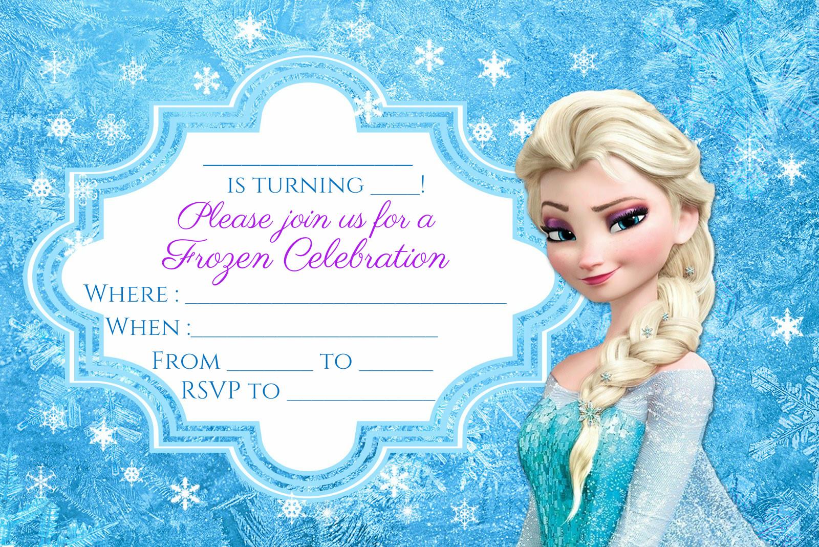 FREE Frozen Party Invitation Instant Download Encore Kids Parties