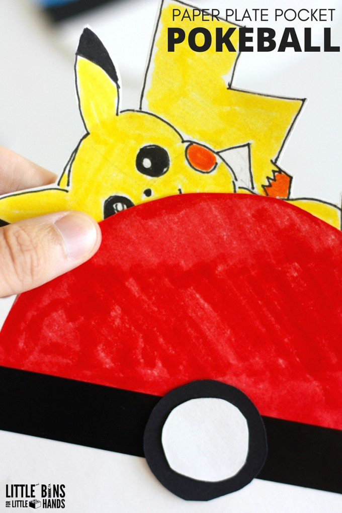 Paper Plate Pokemon Go crafts
