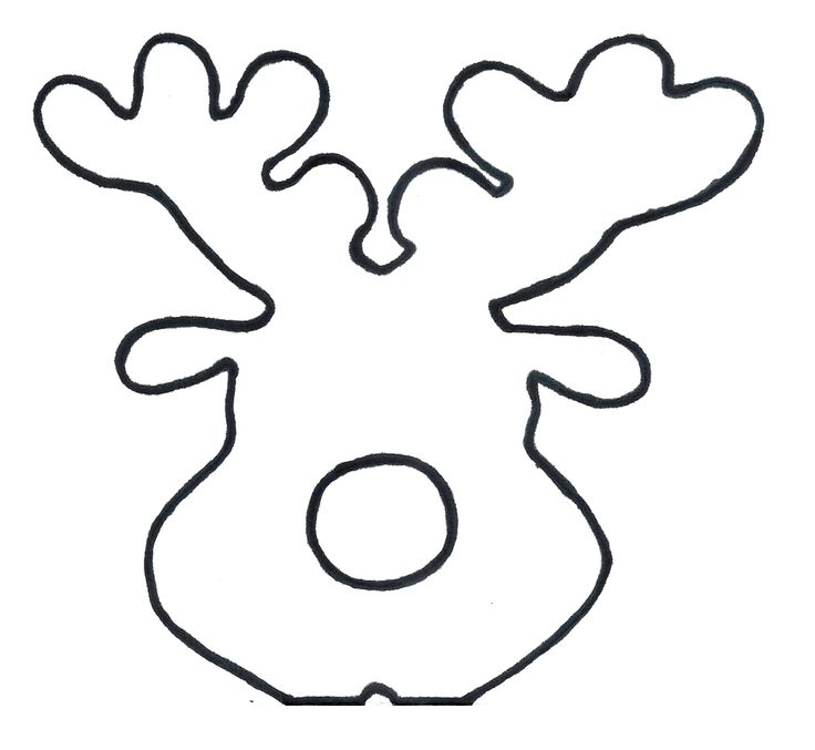 reindeer template cut out - how to make reindeer card lollipops encore kids parties