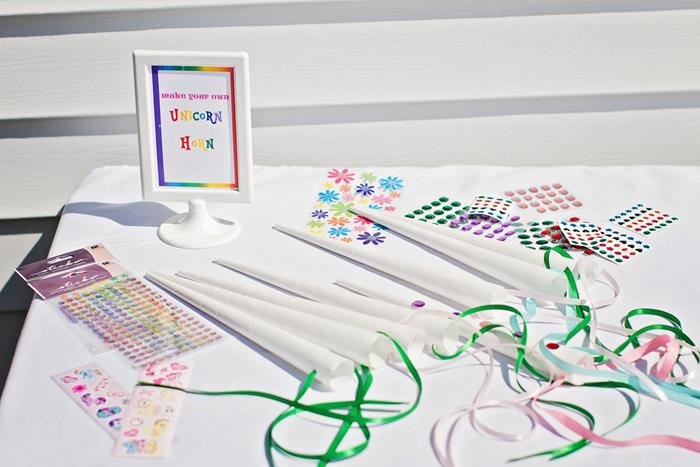 Diy pony party games encore kids parties craft unicorn decorating station solutioingenieria Image collections