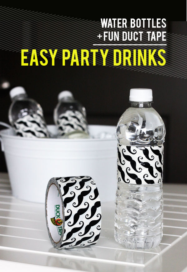 Craft, diy water bottle labels, party food ideas