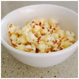 cheesy paprika popcorn, kids party food ideas, popcorn recipe, kids party perth