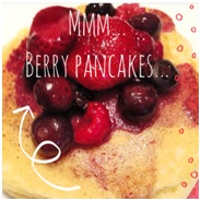 berry panckae recipe, sleepover party breakfast