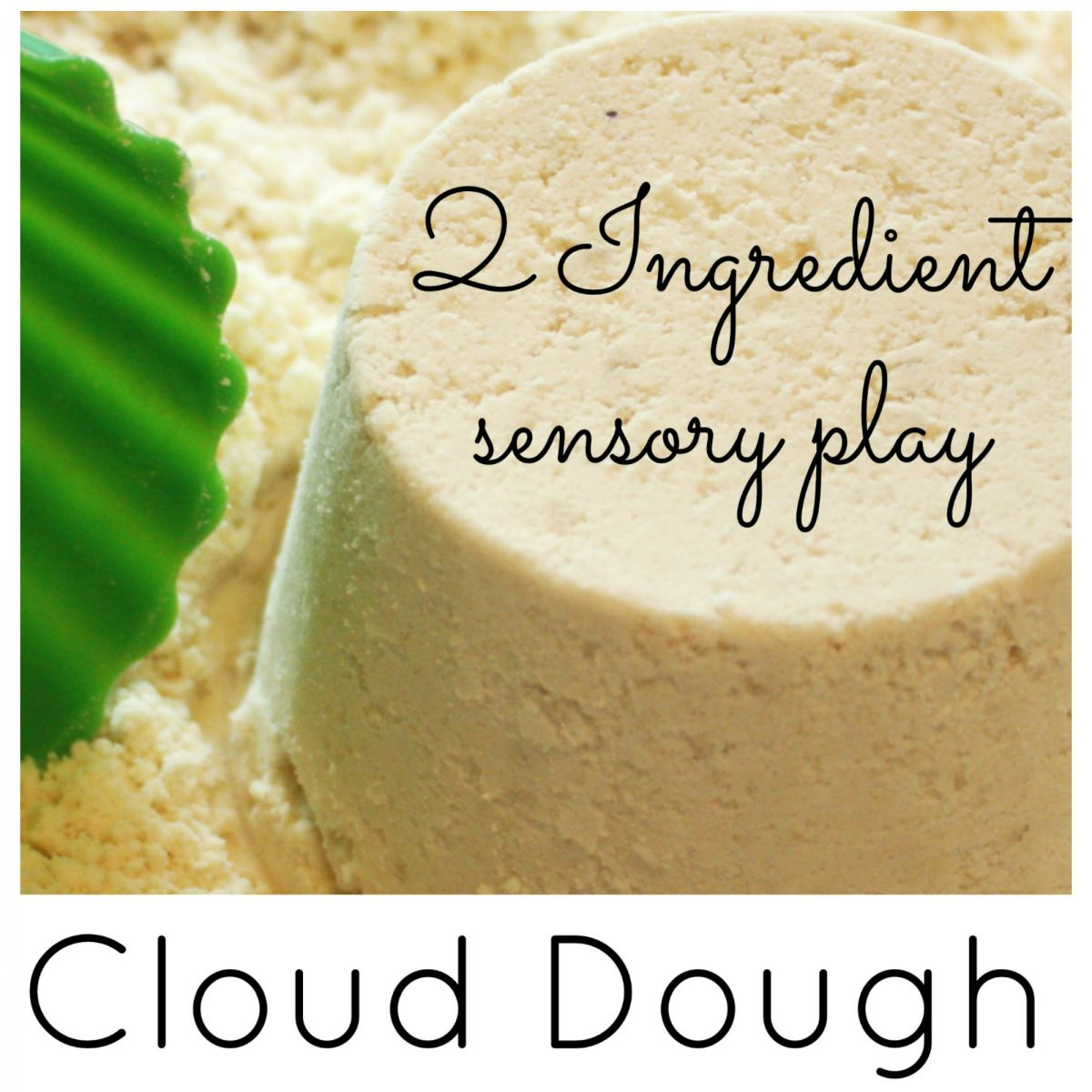cloud dough recipe, sensory play dough