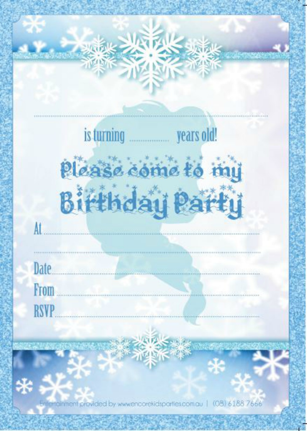image for Snow Party Invitation