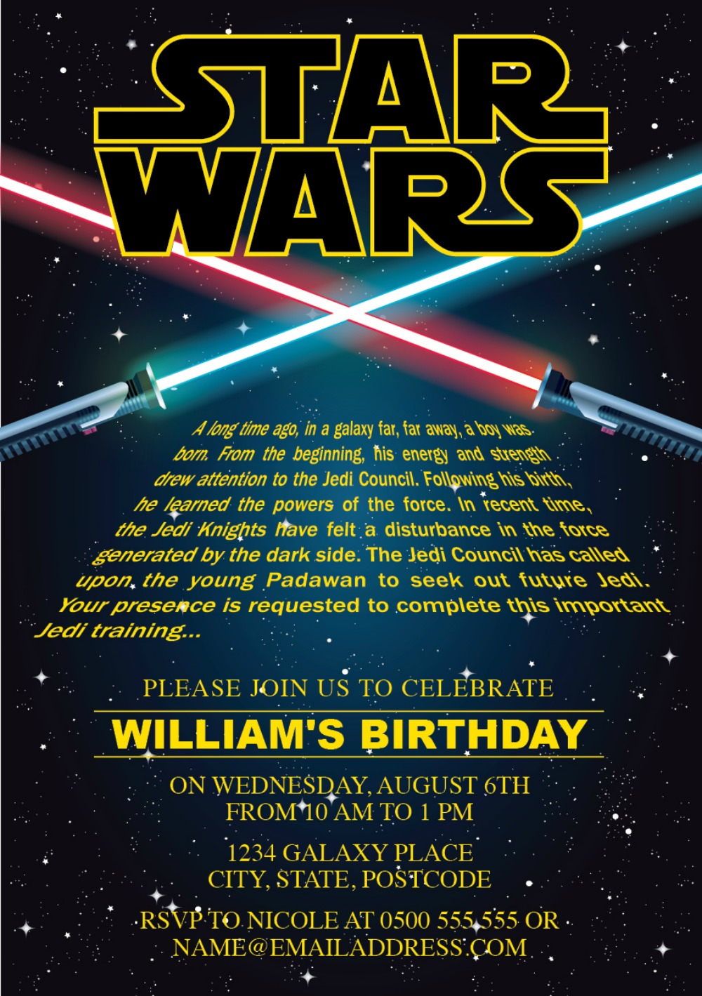 Star Wars Party Invites for nice invitations sample