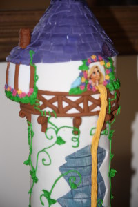 Attention to detail of the Rapunzel Cake decoration is stunning